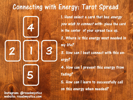 Connecting With Energy: Tarot Spread