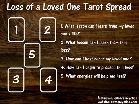 Loss of a Loved One: Tarot Spread