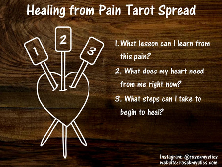 Healing from Pain: Tarot Spread