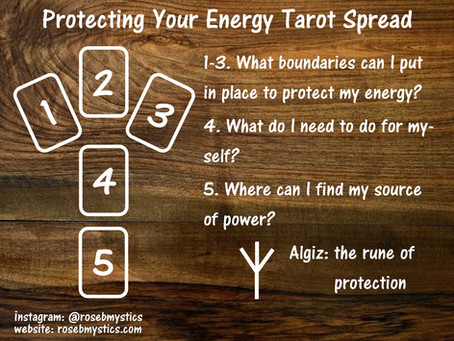 Protecting Your Energy: Tarot Spread