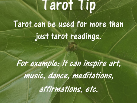 Tarot Tip: For More than Just Tarot Readings