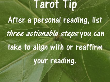 Tarot Tip: Taking Action