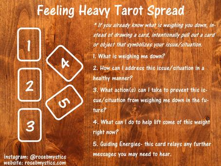 Feeling Heavy Tarot Spread