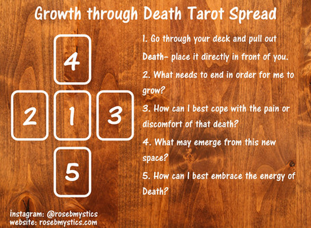 Growth Through Death: Tarot Spread