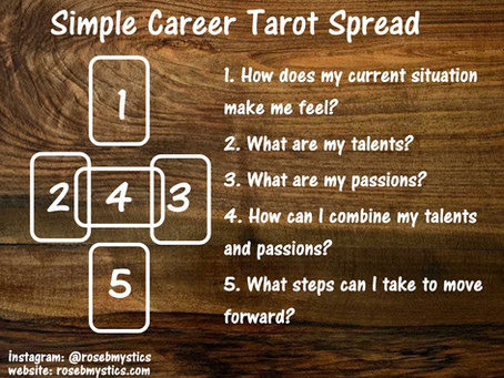 Simple Career: Tarot Spread
