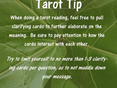 Tarot Tip: Clarifying Cards