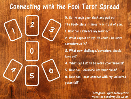 Connecting with the Fool: Tarot Spread