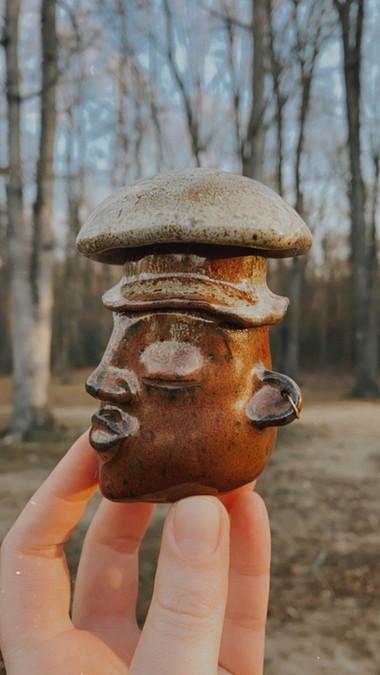 Mushroom Goddess Jar