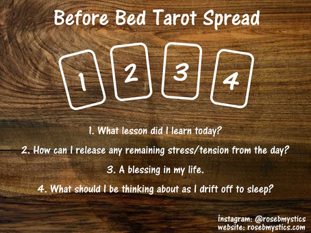 Before Bed Tarot Spread