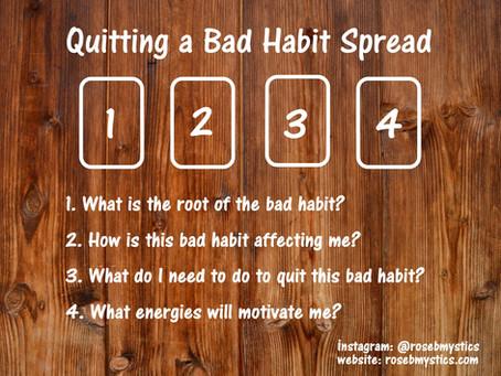 Quitting a Bad Habit: Tarot Spread