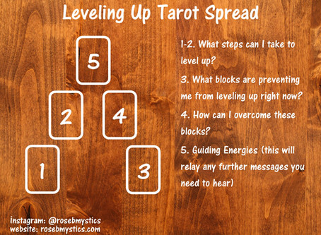 Leveling Up: Tarot Spread