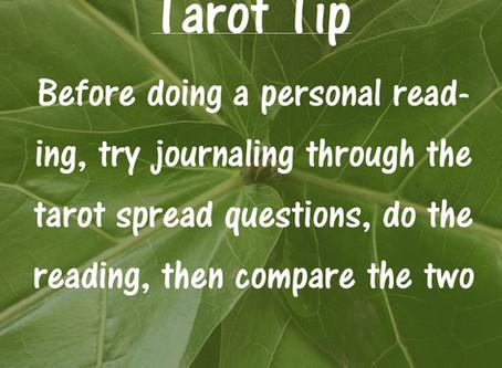 Tarot Tip: Journaling Before Reading