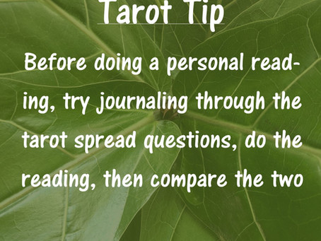 Tarot Tip: Journaling Before Reading