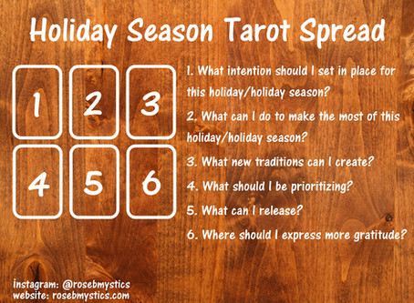 Holiday Season: Tarot Spread