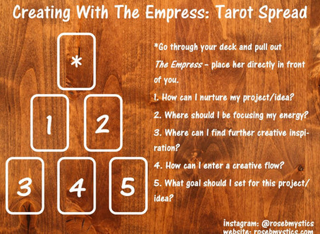 Connecting With The Empress: Tarot Spread