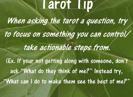 Tarot Tip: Things You Can Control