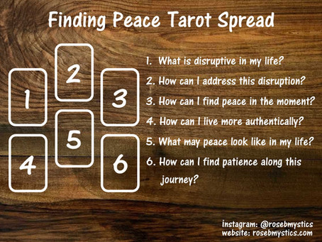 Finding Peace Tarot Spread