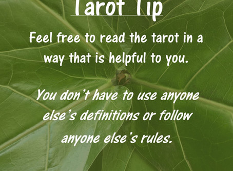 Tarot Tip: Make Your Own Rules