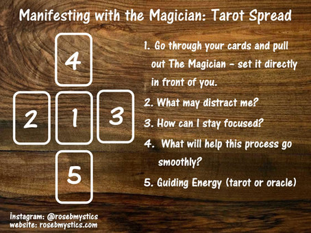 Manifesting with the Magician Tarot Spread