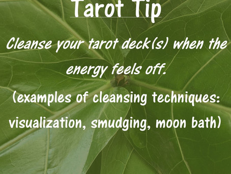 Tarot Tip: Cleansing Your Deck