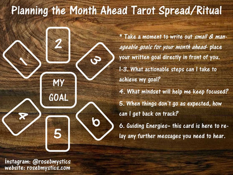 Planning the Month Ahead Tarot Spread/Ritual