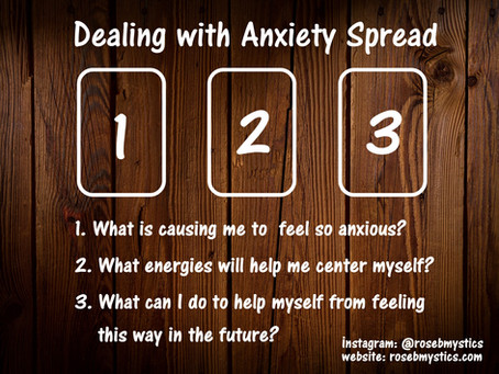 Dealing with Anxiety: Tarot Spread