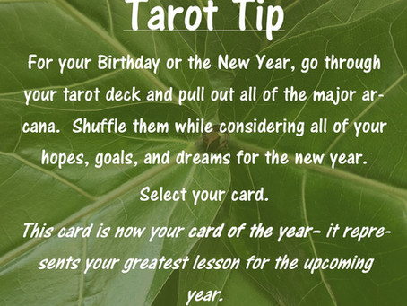 Tarot Tip: Card of the Year