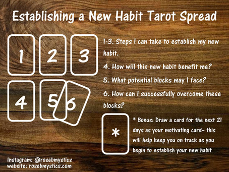 Establishing a New Habit: Tarot Spread