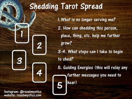 Shedding Tarot Spread