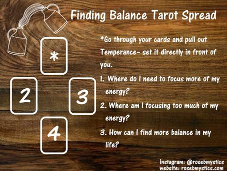 Finding Balance Tarot Spread