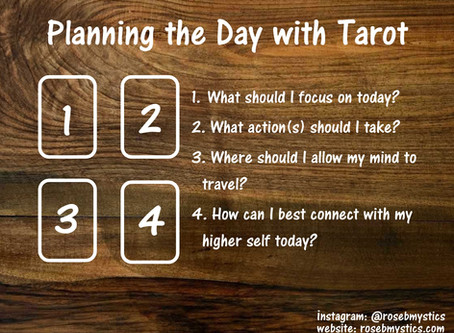 Planning the Day with Tarot: Tarot Spread