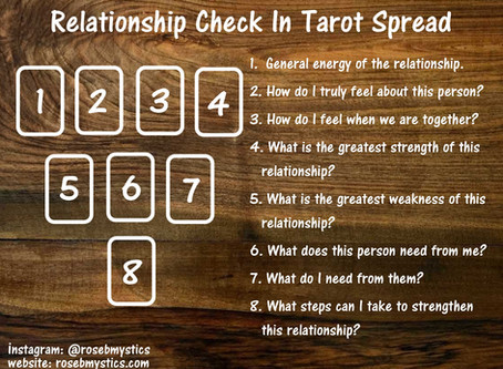 Relationship Check In: Tarot Spread
