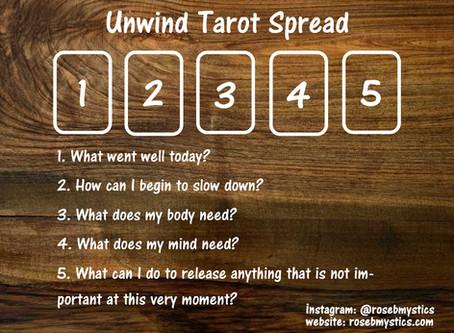 Unwind: Tarot Spread