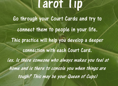 Tarot Tip: Connecting the Court Cards to People