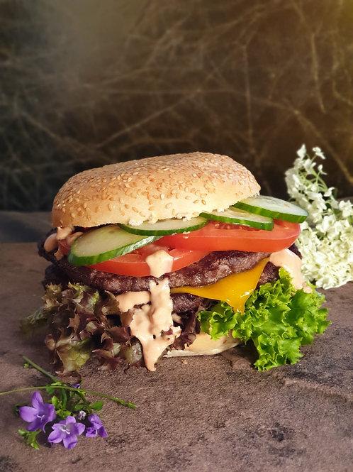 100% Wasserbüffel Beef Burgerpatties (180g) 32 Stk. pro Pck