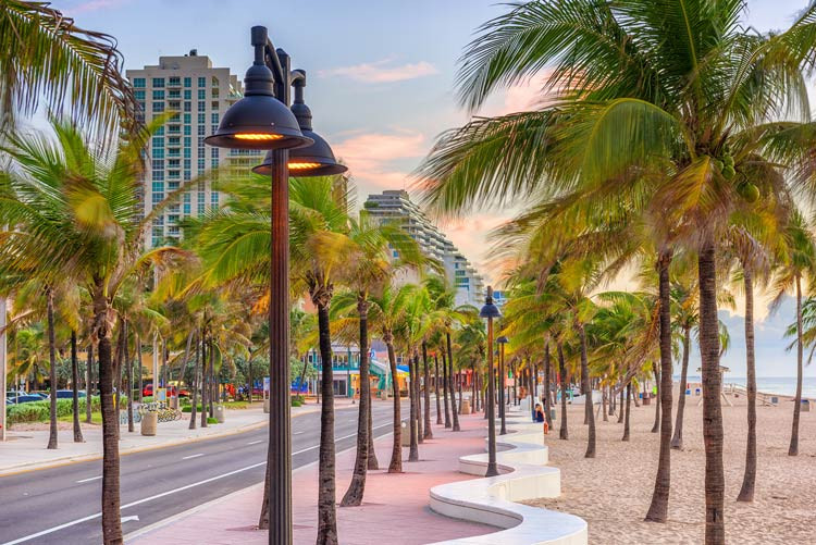 Beach strip of Ft. Lauderdale, Florida