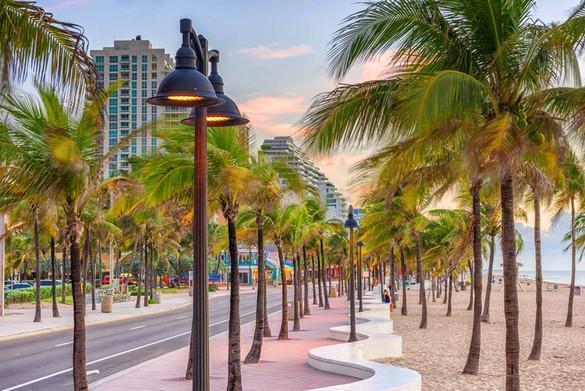 Beach strip of Ft. Lauderdale, Florida