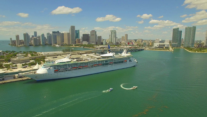 Cruise Ship at port of Miami