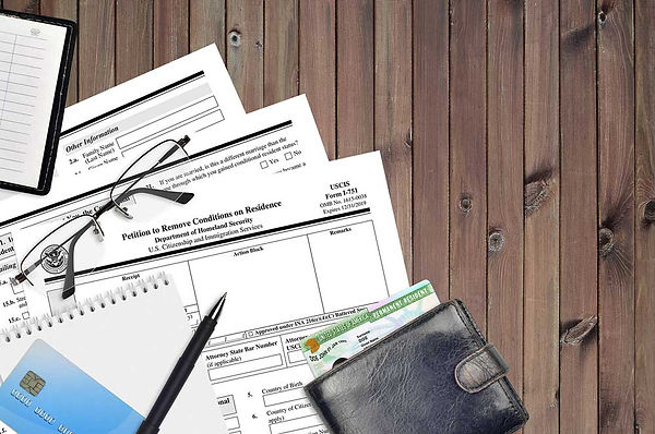 USCIS form I-751 Petition to remove cond