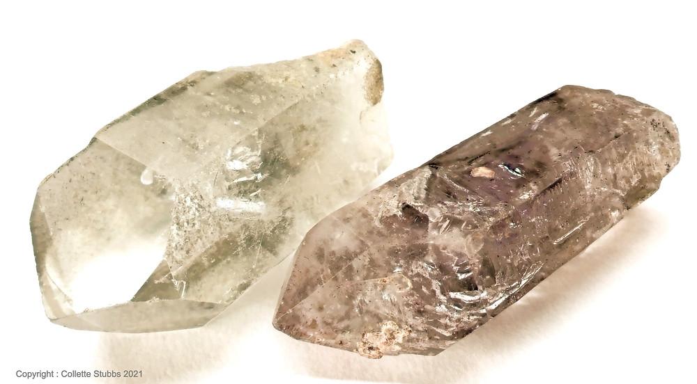 two quartz points