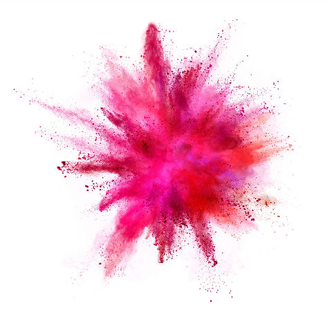 Explosion of coloured powder isolated on