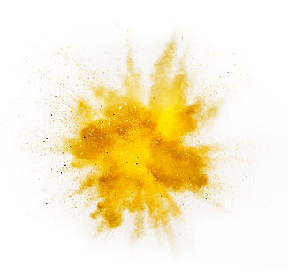 Explosion of colored powder isolated on