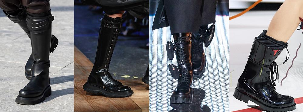 1. http://www.livingly.com/runway/Milan+Fashion+Week+Fall+2019/Bottega+Veneta/Details/wRGsW62bDNL 2. https://www.vogue.com/fashion-shows/fall-2019-ready-to-wear/alexander-mcqueen 3. https://www.vogue.com/fashion-shows/fall-2019-ready-to-wear/prada 4. https://glowsly.com/fall-winter-shoe-trends/