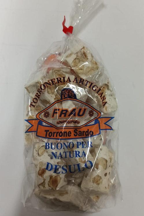 Torrone Sardo Artigianale alle Nocciole Sacchetto  Mono-porzioni 300 gr
