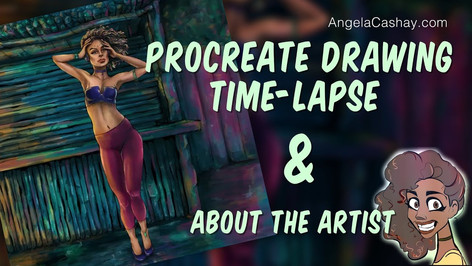 Procreate Drawing Time-lapse & About the Artist