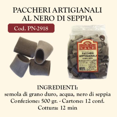 Paccheri Artigianali al Nero di Seppia 500 Gr