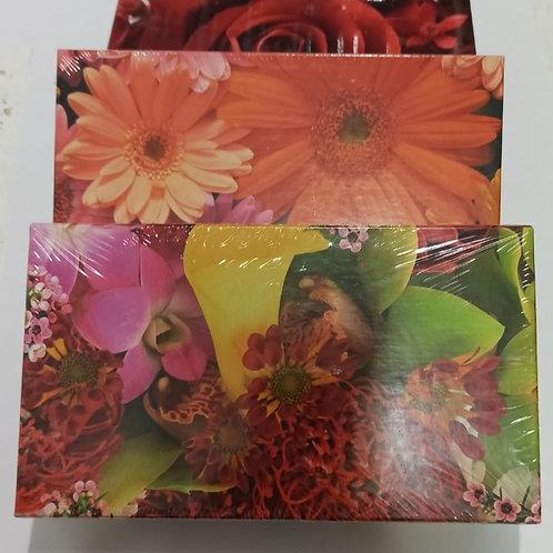 Torrone Artigianale Sardo Frau alle Mandorle scatola fiorita 400 gr