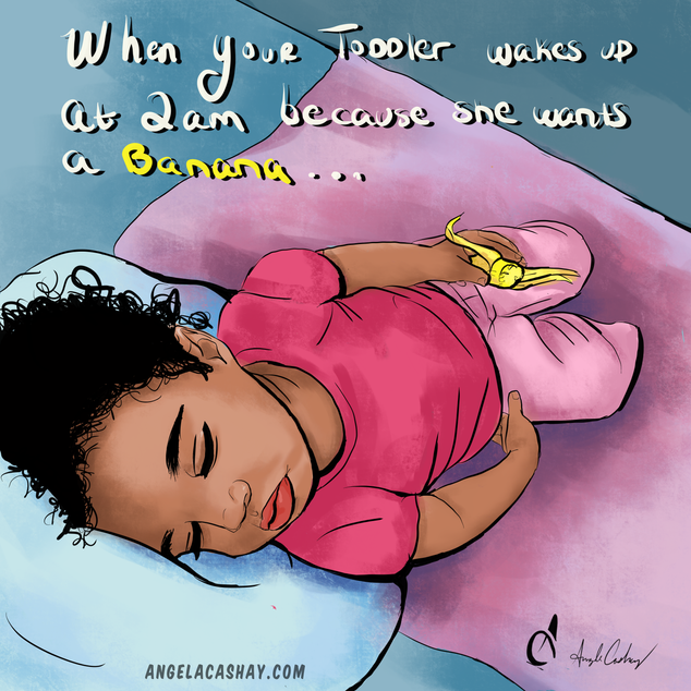 Early morning digital drawing.  My sweet little girl woke up a little before 2am because she wanted to eat a banana.   She was so exhausted that she kept dozing off mid-bite.   I used that as an opportunity to add to my art journal.   Parent life, sometimes you just don't sleep, but it's worth it.