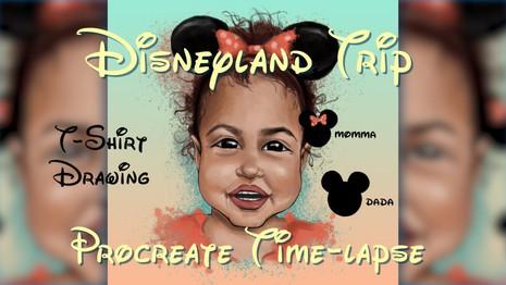 Procreate Drawing Time-Lapse: Disneyland T-Shirt Design