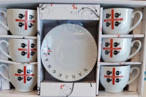Set Tazzine Piattini Caffè Sardegna 4 Mori